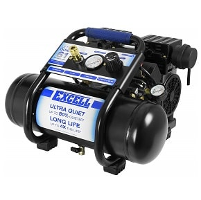 Excel 2 Gallon Ultra Quiet Air Compressor