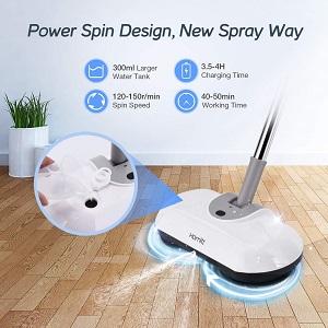 Homitt Electric Spin Mop Power Floor Scrubber